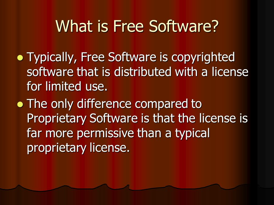 What is Free Software.