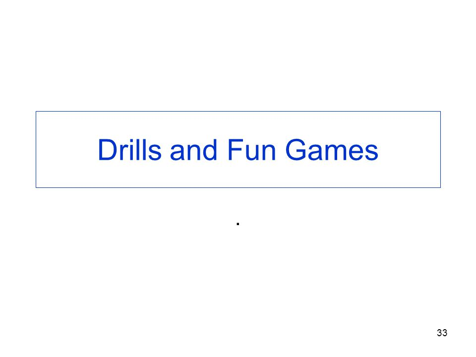 33 Drills and Fun Games.