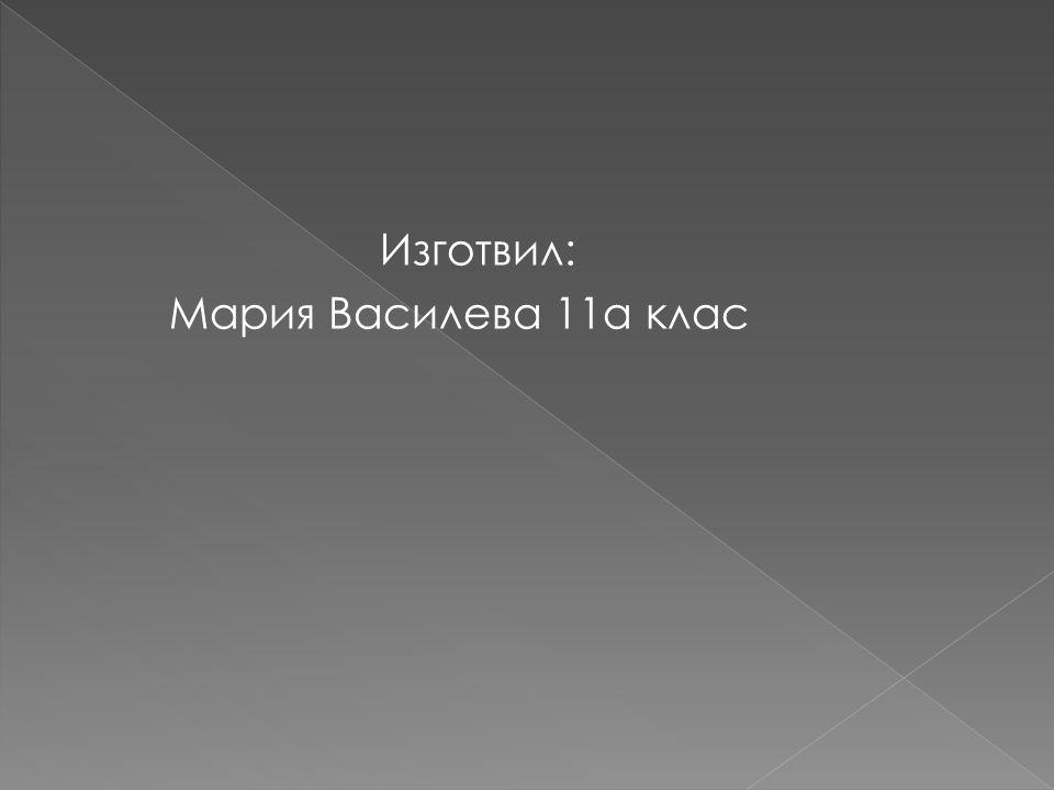 Изготвил: Мария Василева 11а клас