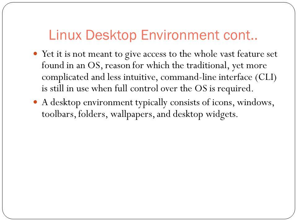 Common desktop environment