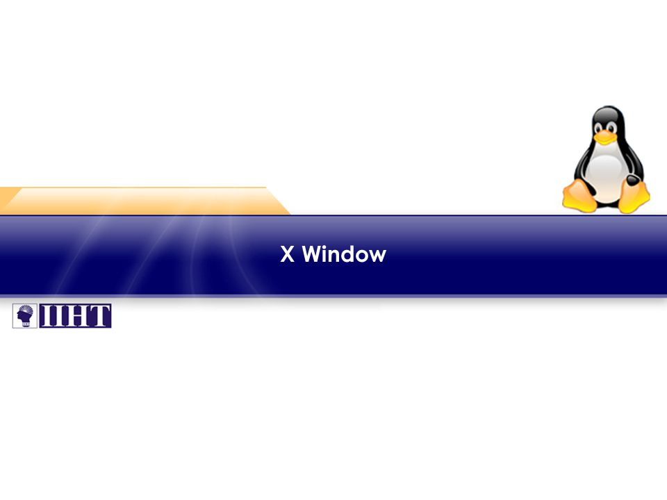 Module 3 X Window ♦ Introduction The X Window System ('X' or 'X11') is a graphical windowing system that was developed at MIT in 1984.