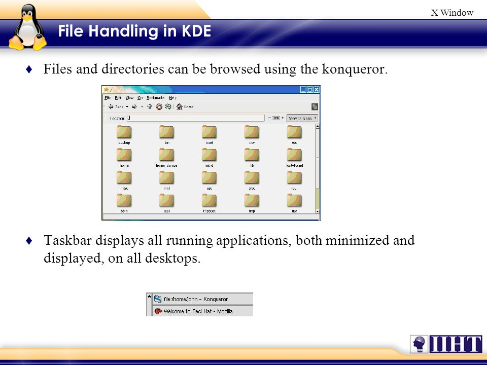 X Window Changing graphical login session ♦ Desktop Switcher