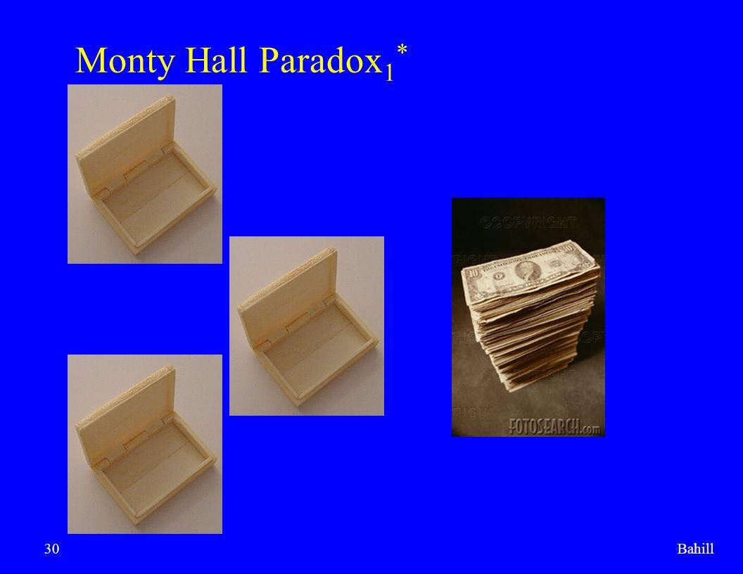 Bahill30 Monty Hall Paradox 1 *