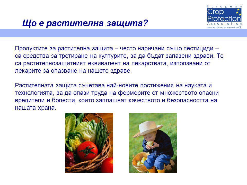 Продуктите за растителна защита – често наричани също пестициди – са средства за третиране на културите, за да бъдат запазени здрави.
