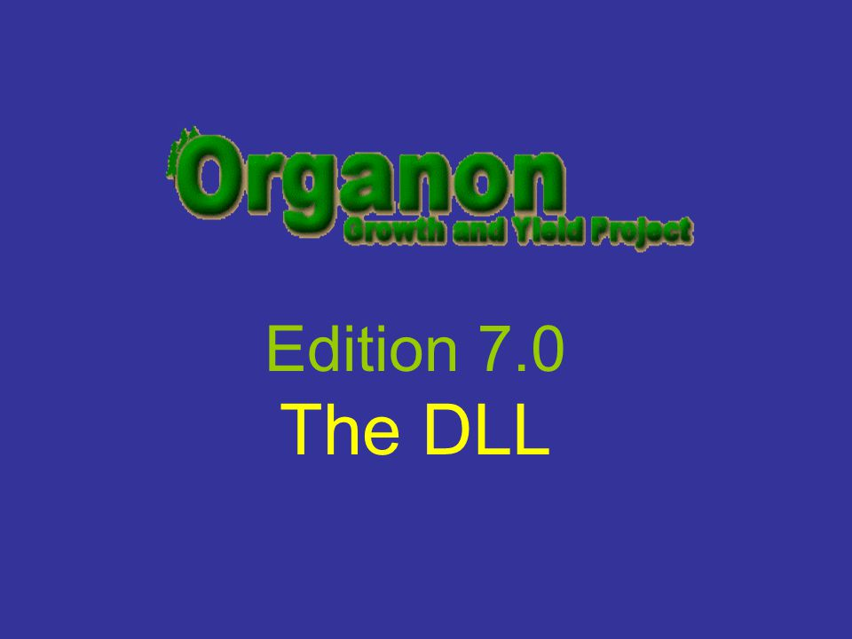 Edition 7.0 The DLL