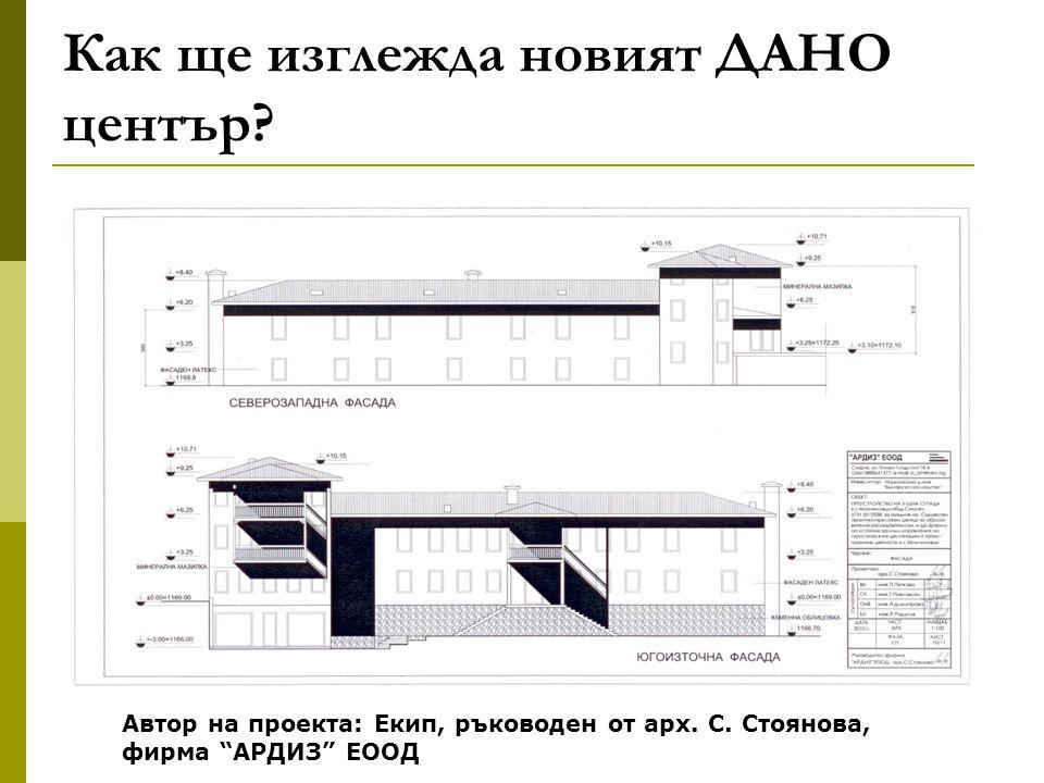 Как ще изглежда новият ДАНО център. Автор на проекта: Екип, ръководен от арх.