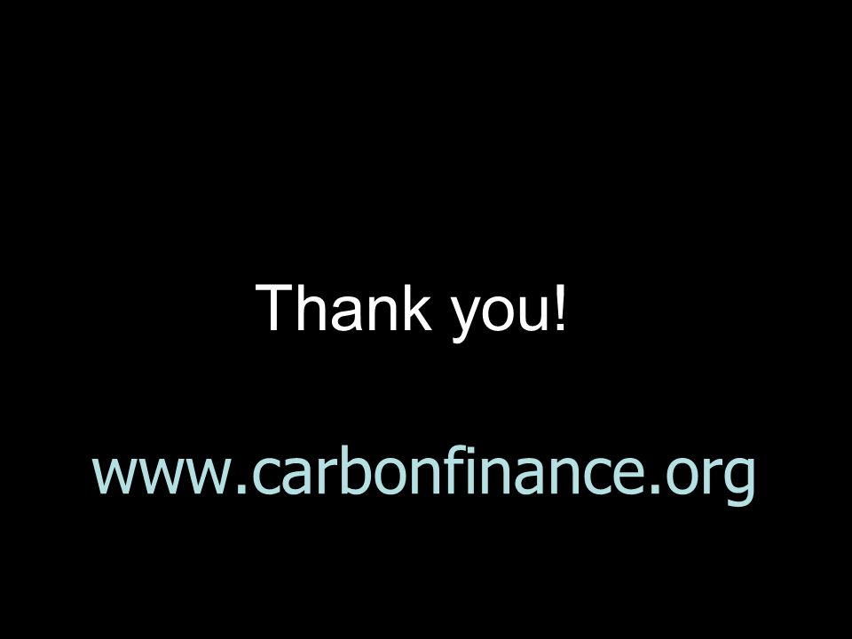 www.carbonfinance.org Thank you!