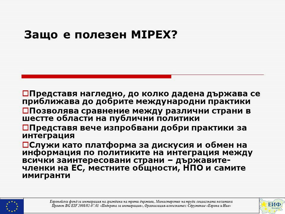 Защо е полезен MIPEX.