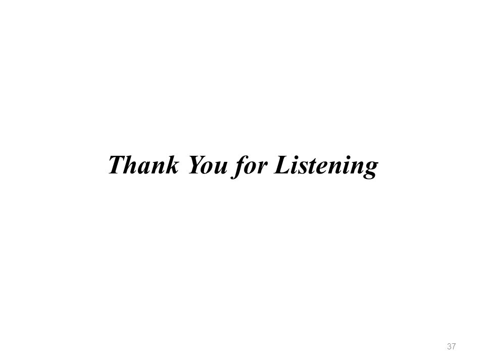 Thank You for Listening 37