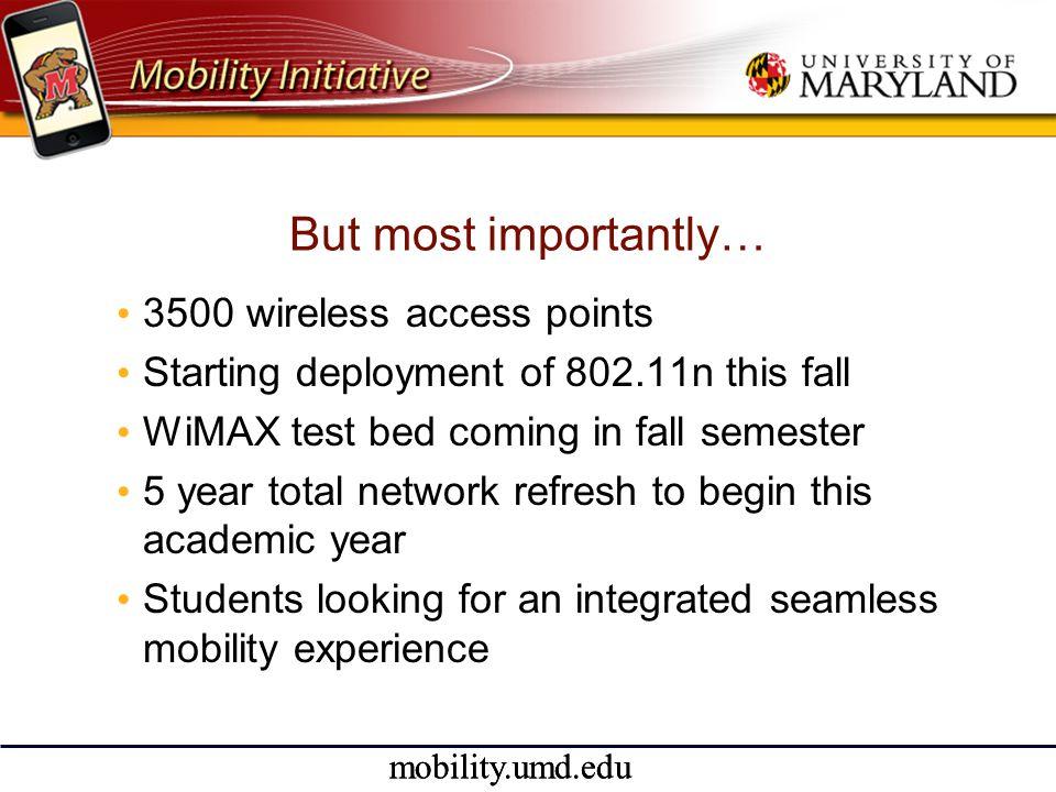 mobility.umd.edu Open Source Initiative