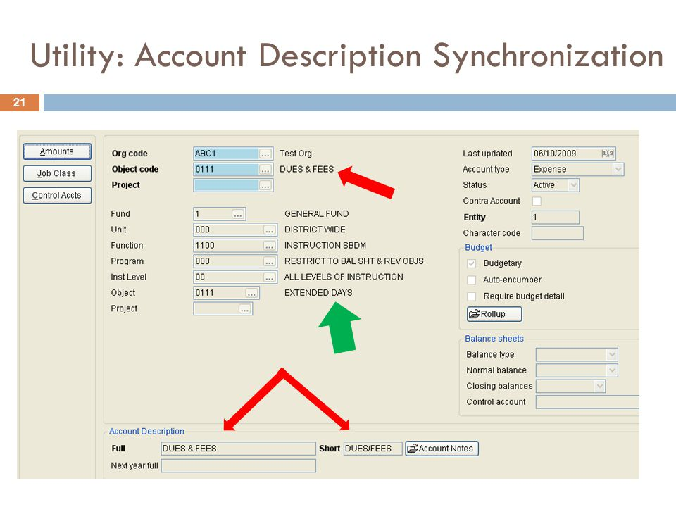 Utility: Account Description Synchronization 21