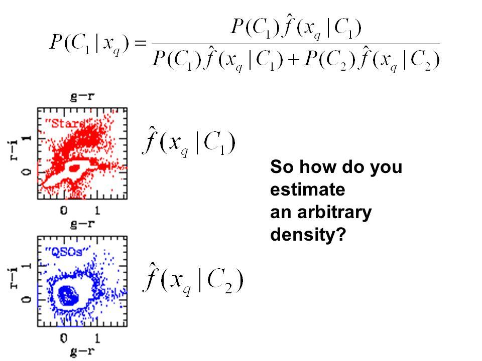 So how do you estimate an arbitrary density?