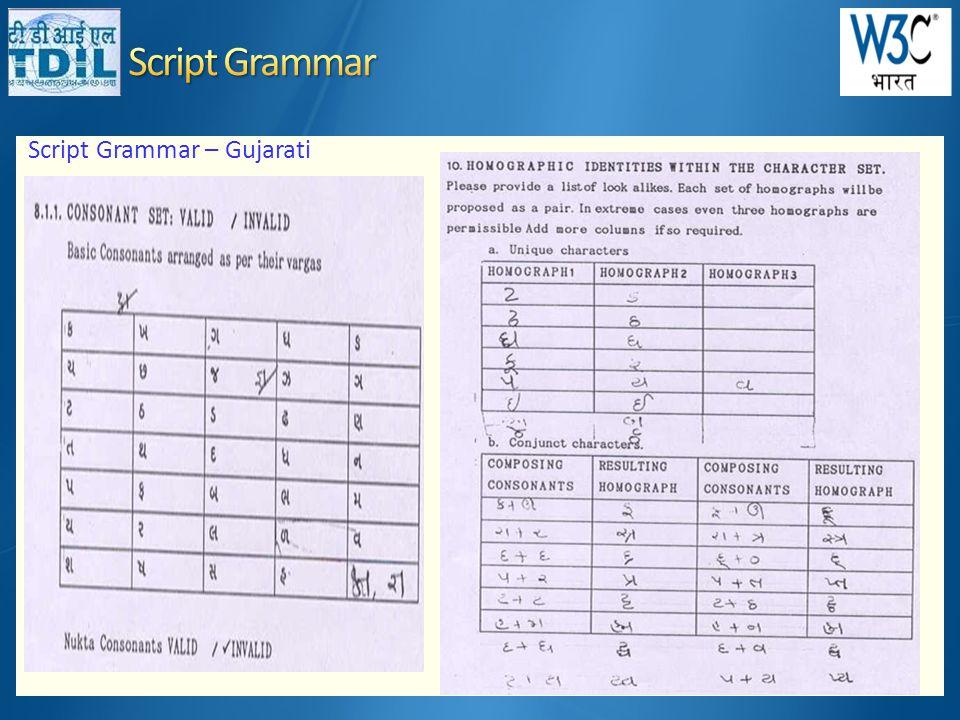 Script Grammar – Gujarati