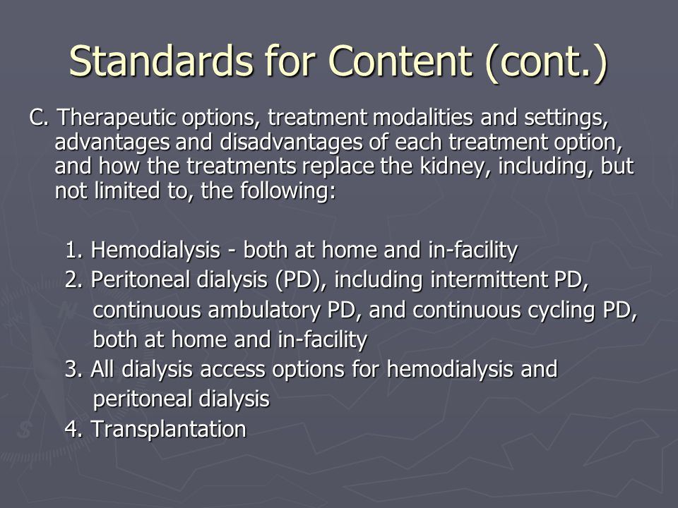 Standards for Content (cont.) C.