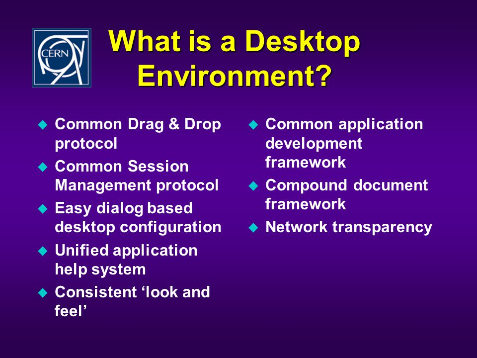 What is a Desktop Environment.