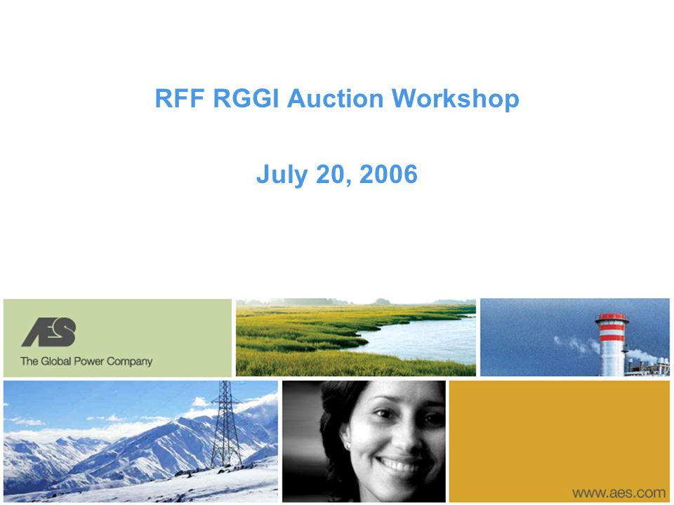 RFF RGGI Auction Workshop July 20, 2006