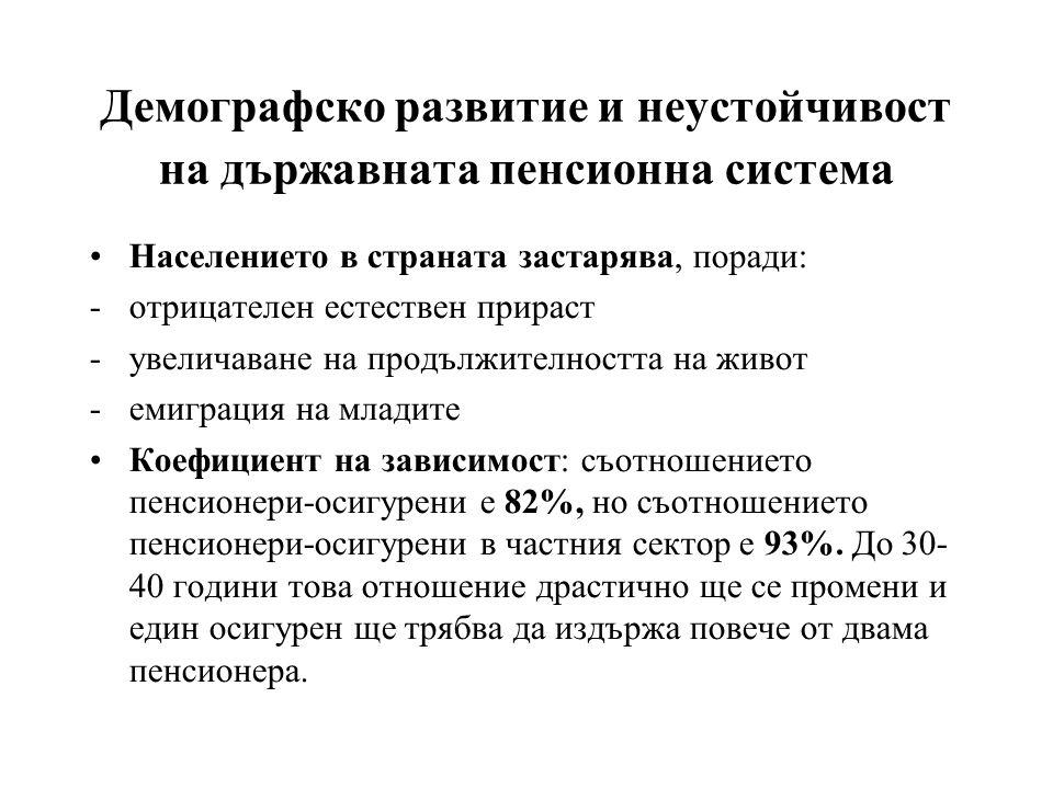 Население над 65 г. като % от населението между 15 и 64 г. (източник: Евростат)