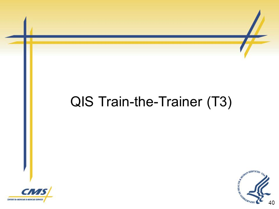QIS Train-the-Trainer (T3) 40