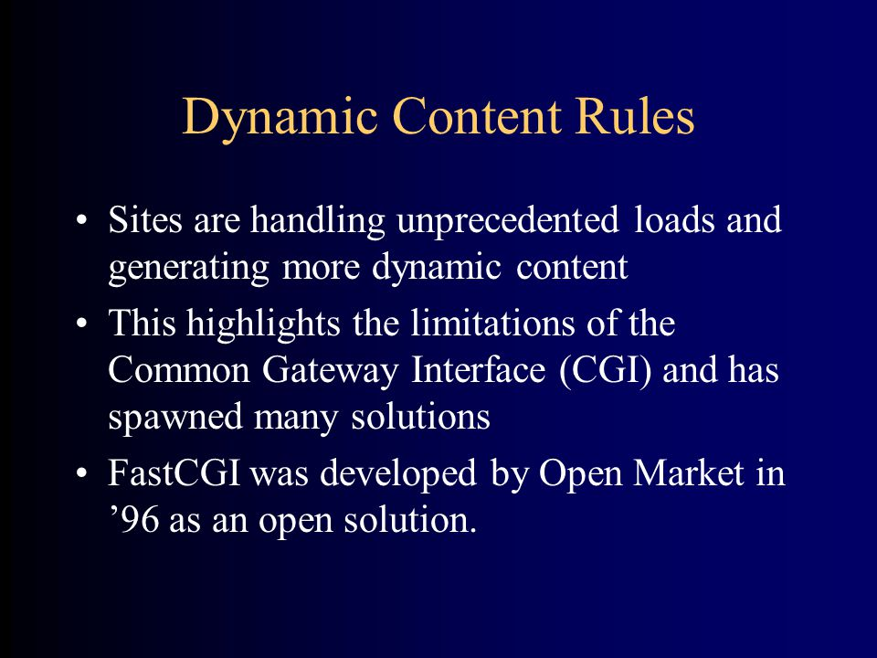 Open Standard •Non-proprietary, no royalties •Anyone can implement it •Anyone can improve it