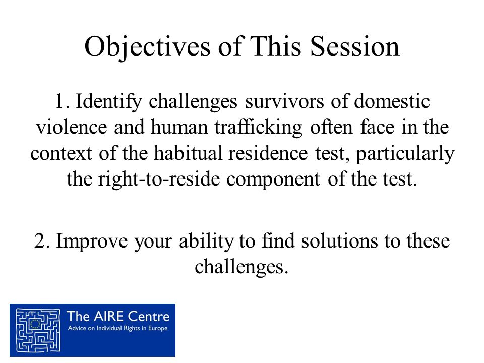 Objectives of This Session 1.