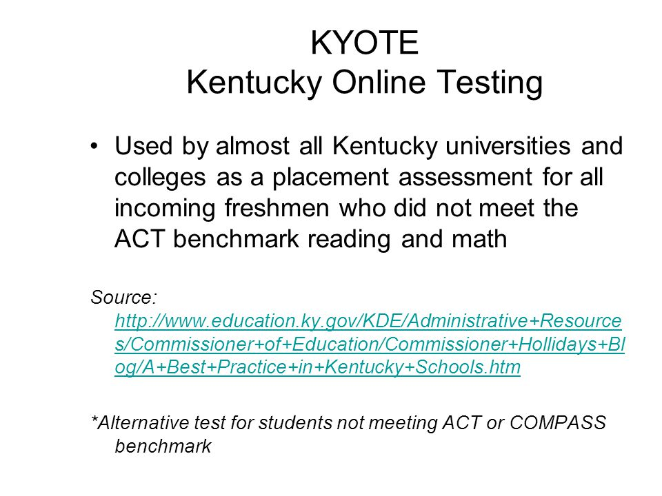 WorkKeys •Developed by ACT •Measures abilities in Communication, Problem Solving, Interpersonal Skills and Personal Skills •Based on performance in Applied Mathematics, Reading for Information, and Locating Information, individuals may obtain ACT's National Career Readiness Certificate (NCRC).