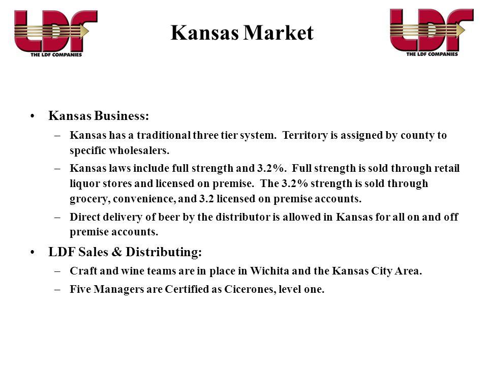 •Statewide sales and distribution in Oklahoma and Kansas.