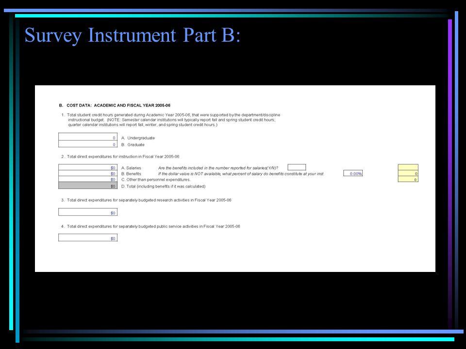 Survey Instrument Part B: