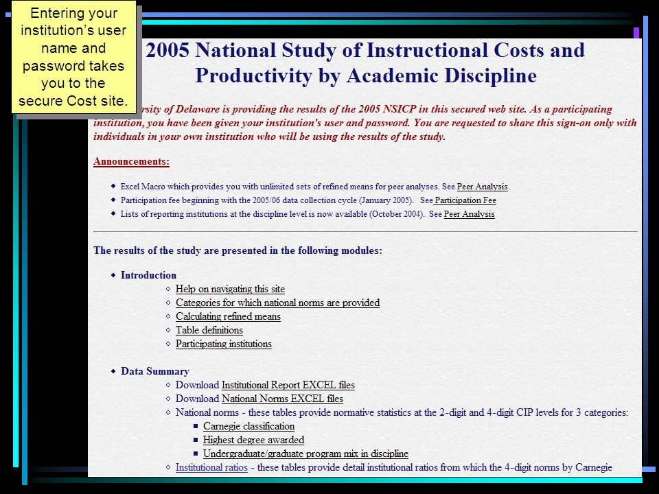Peer analysis: Options Available Using national norms OR Customized peer analysis