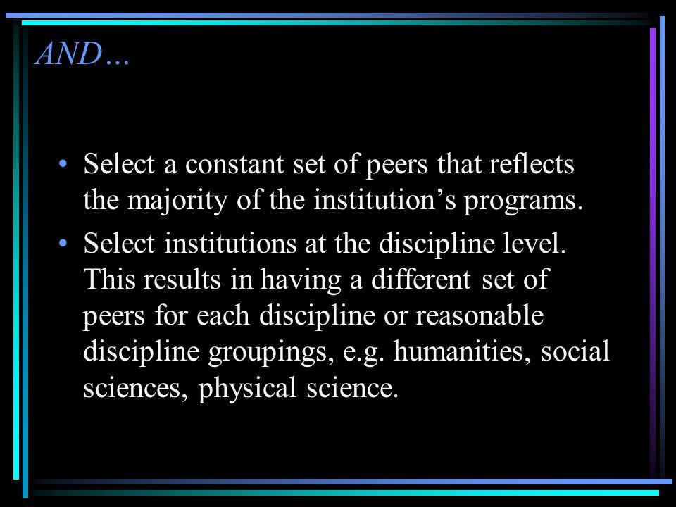 Select 'Peer Ratio Data'…