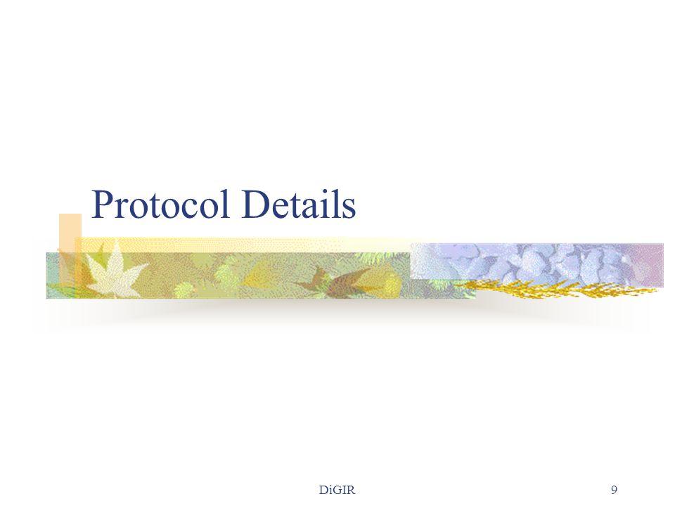DiGIR9 Protocol Details