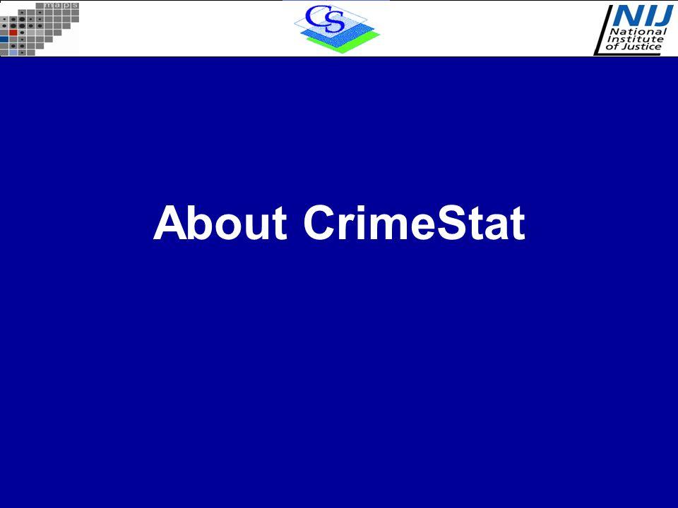 About CrimeStat