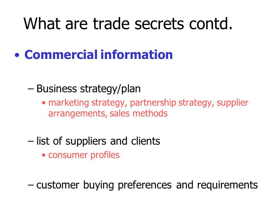Trade secrets as a strategic business tool