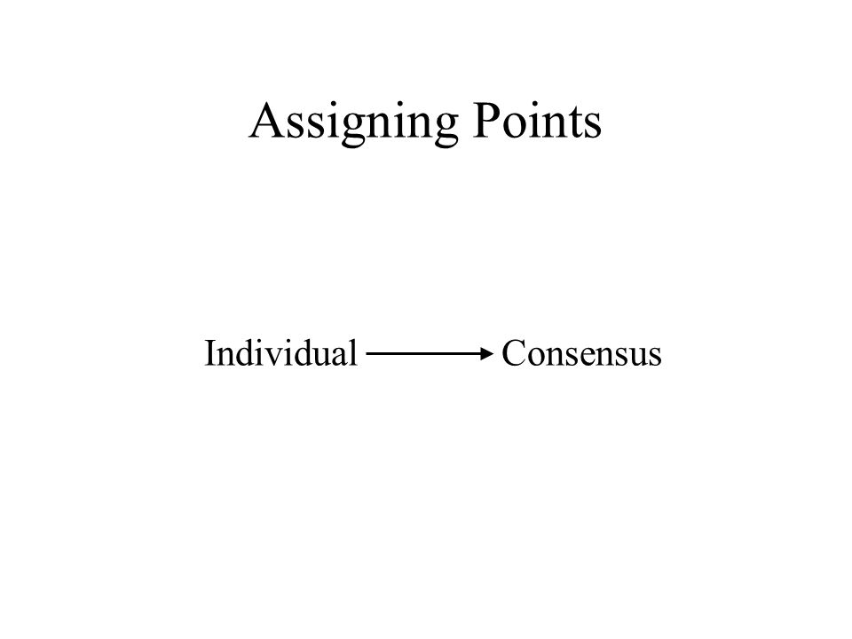Assigning Points Individual Consensus