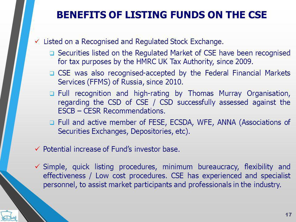  L isted on a Recognised and Regulated Stock Exchange.