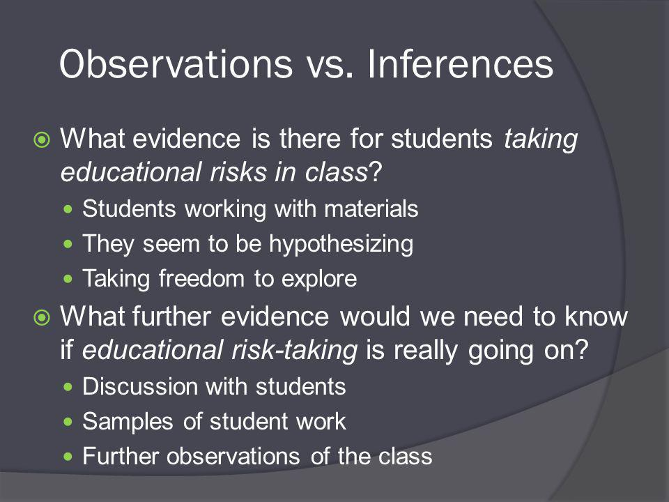 Observations vs.