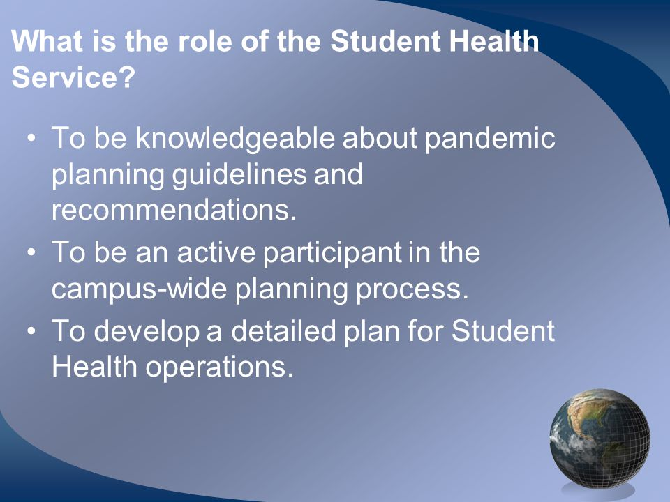 What is the role of the Student Health Service.