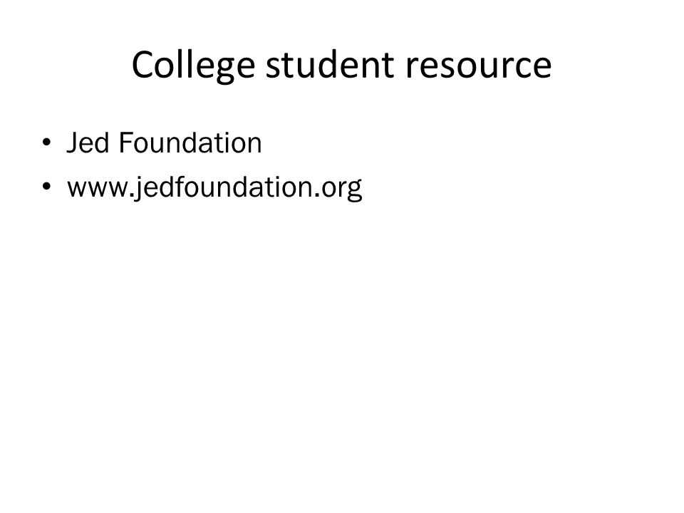 College student resource • Jed Foundation •