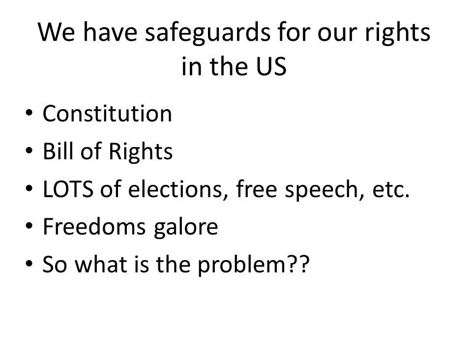 Rights and Responsibilities • With rights comes responsibilities • Discussion should be: Democracy and Human Rights AND Responsibilities