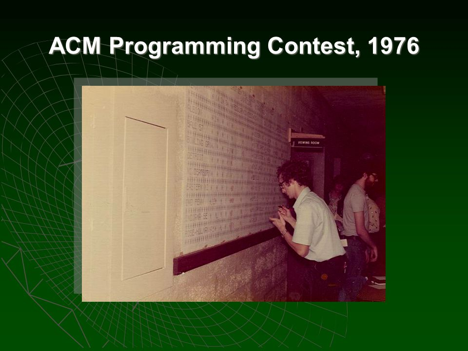 ACM Programming Contest, 1976