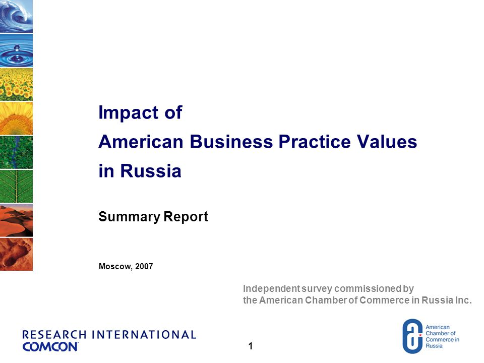 2 RESEARCH DESCRIPTION (A) Objective Evaluate the level of impact of American Business Practice Values in Russia and their acceptance by Russian managers Stage 1 – Qualitative As a result of in-depth in-person interviews with middle and top managers of eight Russian and ten American companies, we identified major differences in values, attitudes and management style.