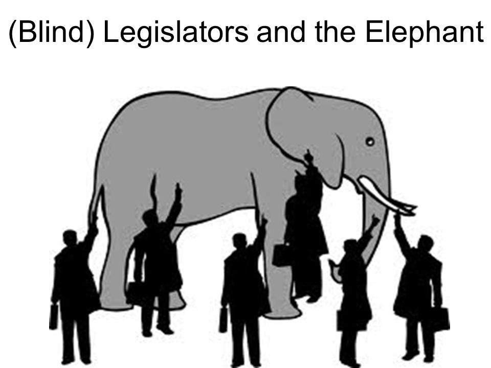 (Blind) Legislators and the Elephant