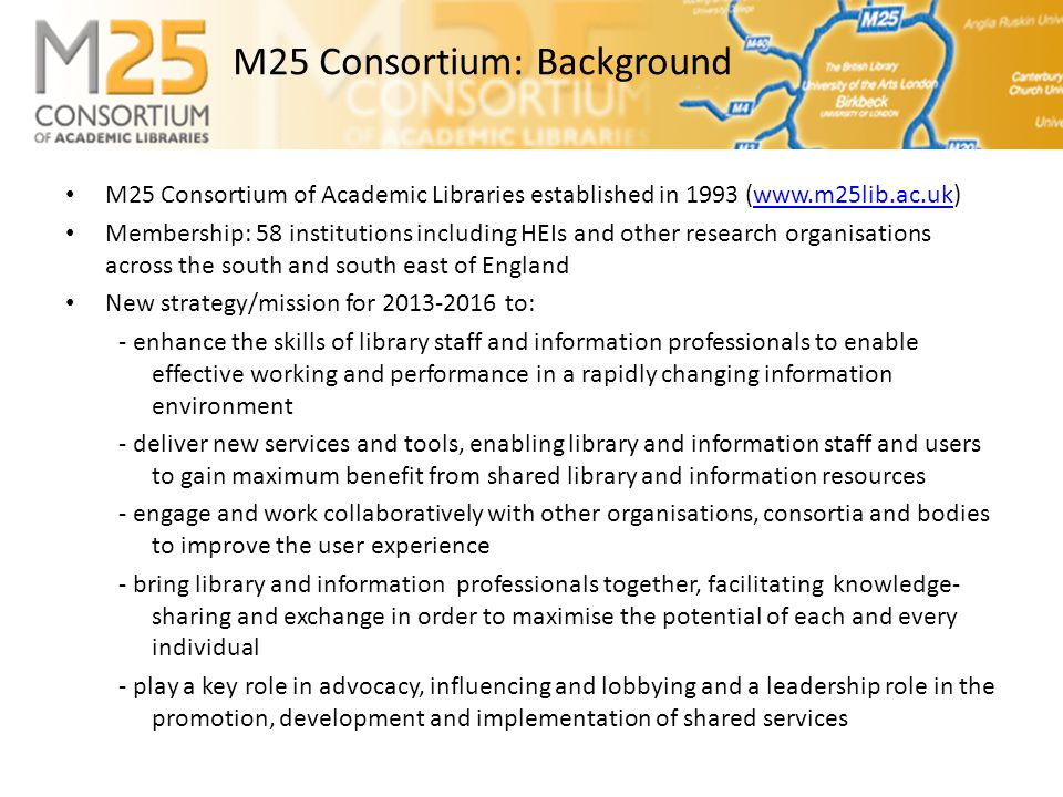E-BASS25 • Search25 Service Development Group set up and reports to the Consortium's Steering Group.