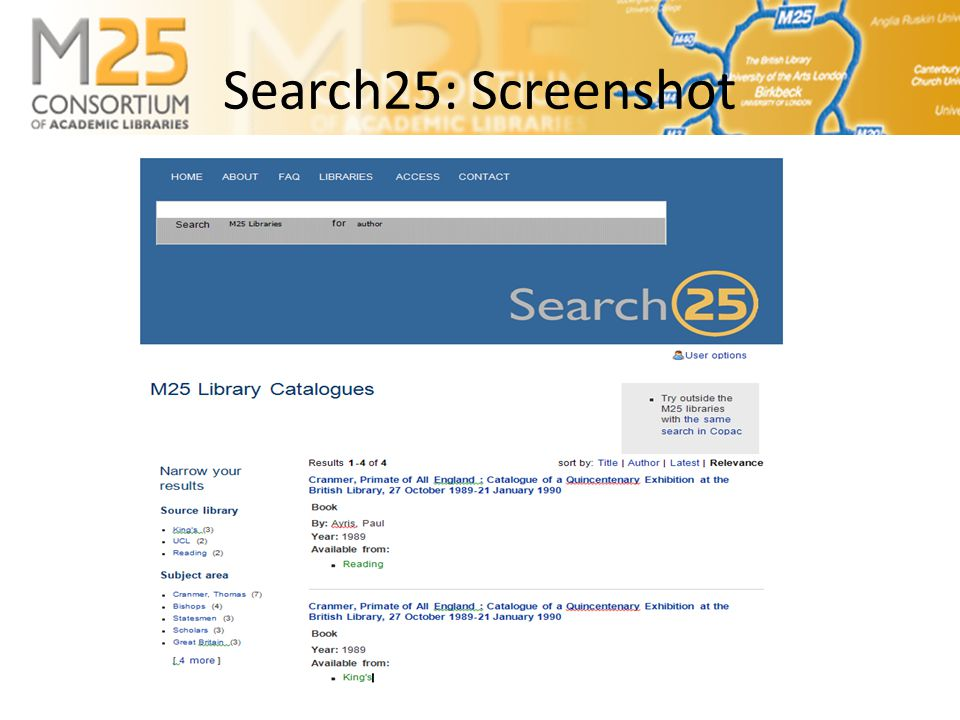 Search25 Screenshot