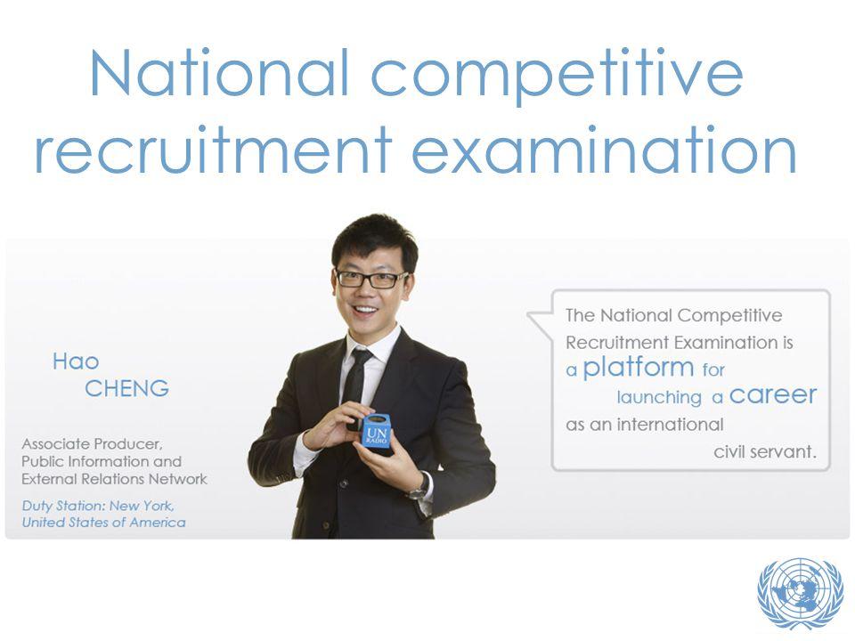 National competitive recruitment examination