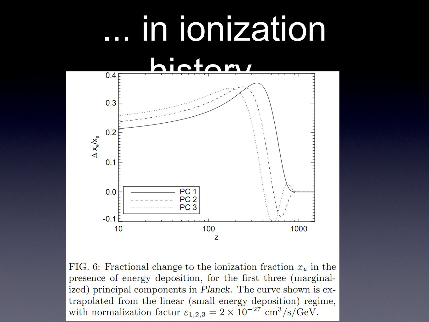 ... in ionization history...