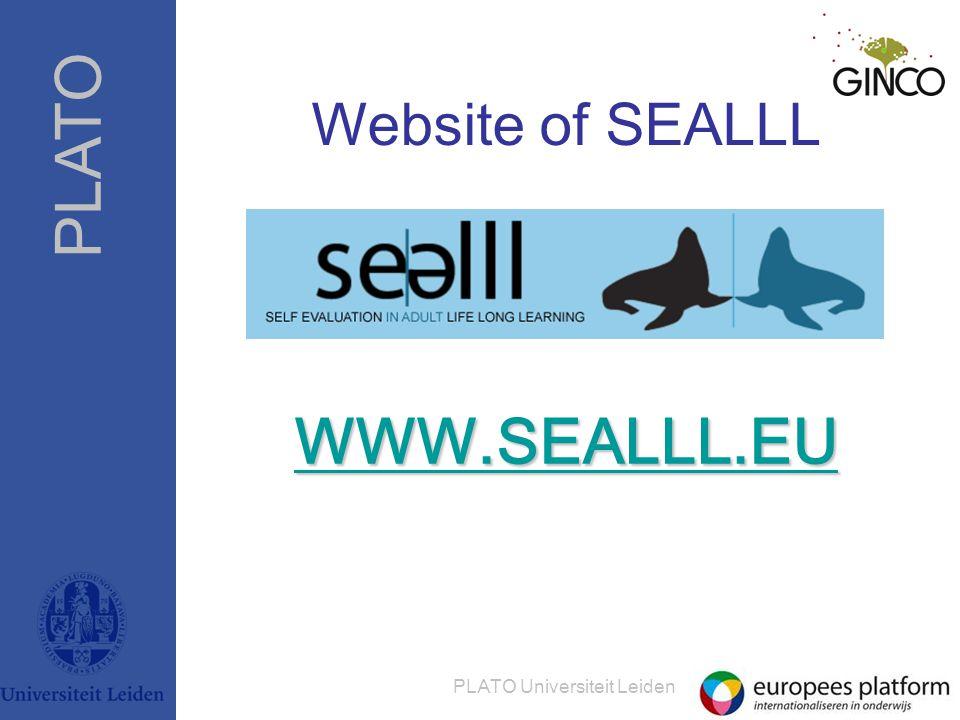 PLATO PLATO Universiteit Leiden Website of SEALLL WWW.SEALLL.EU