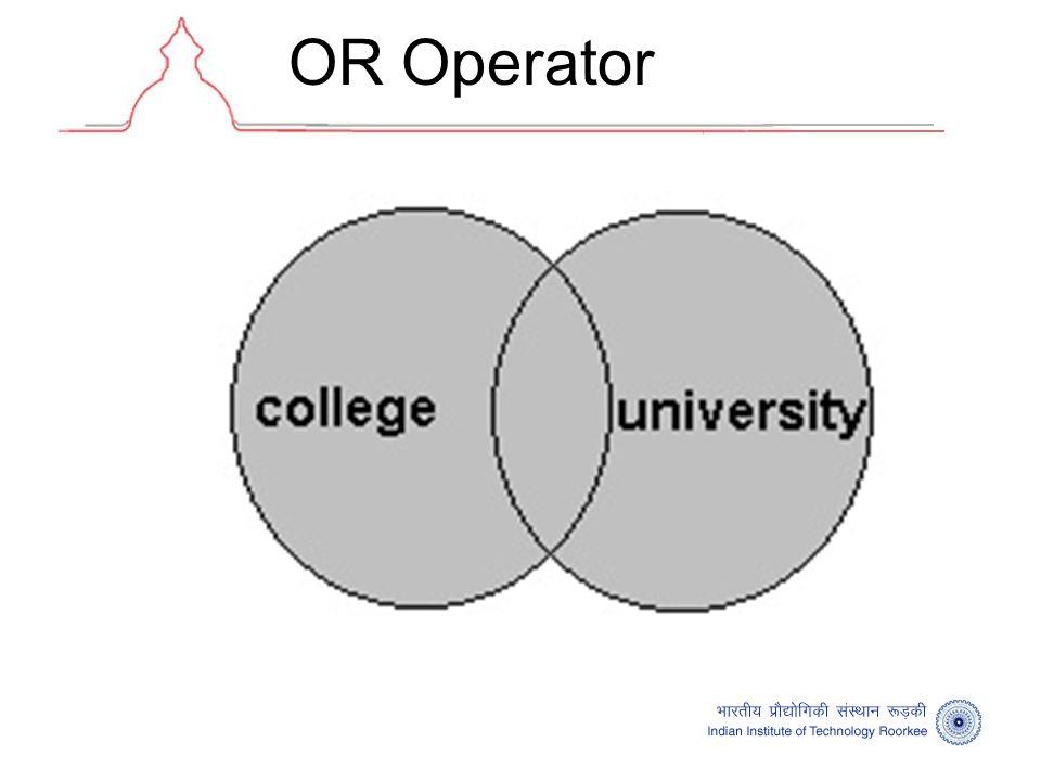 OR Operator