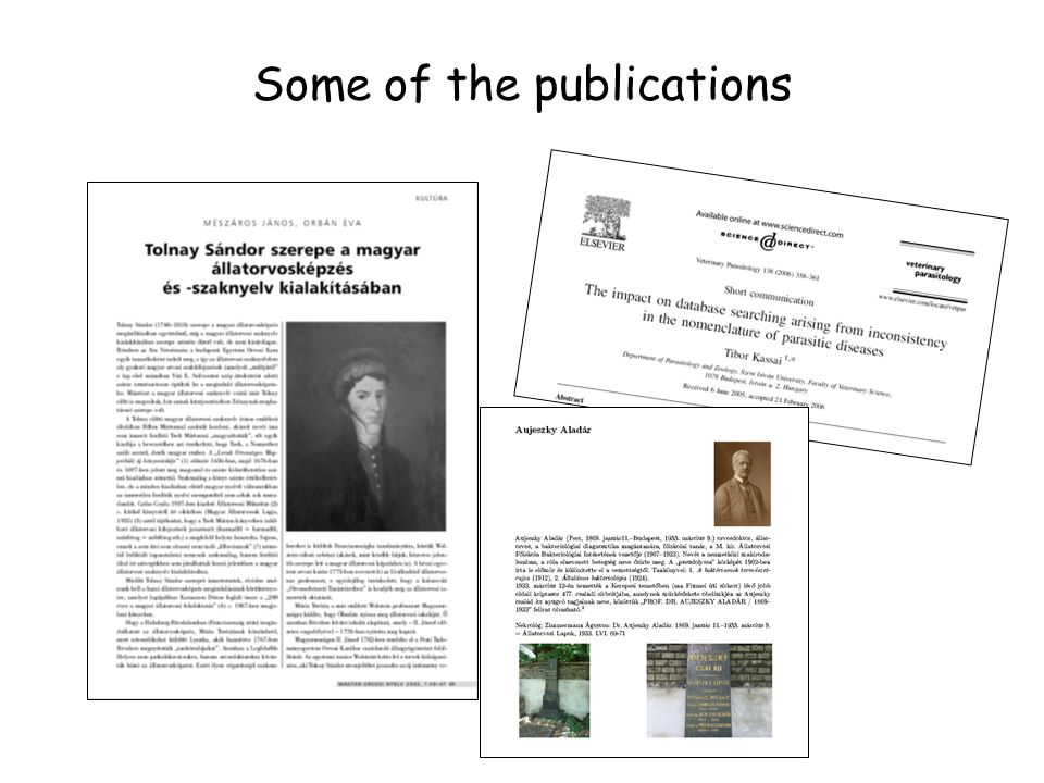 Some of the publications