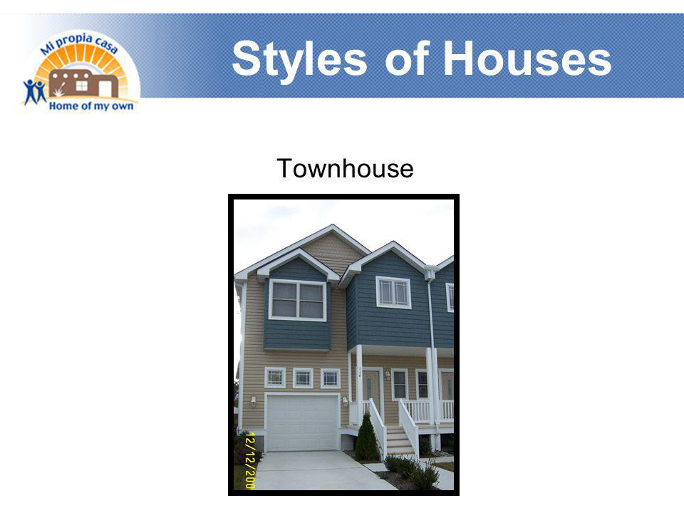 Styles of Houses Townhouse