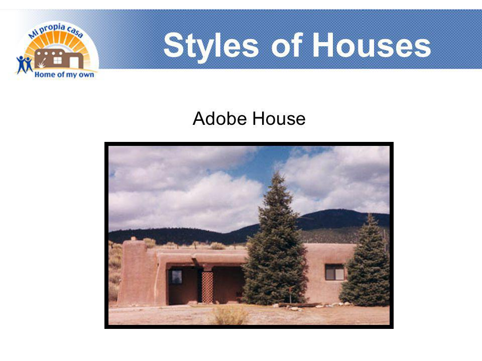 Styles of Houses Adobe House